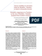 Competencias científicas - Cultura y Educación