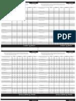 P90X Workout Sheets