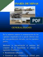 Generalidades Maquinaría Minas