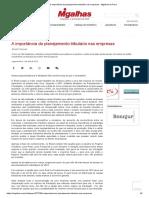 Artigo 1- Planejamento Tributário