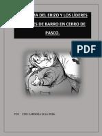 El Dilema Del Erizo y Los Lideres Con Pies de Barro en Cerro de Pasco.   POR