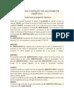 MODELO DE CONTRATO DE ALQUILER DE VEHÍCULO