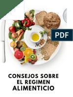 Resumen Consejos sobre el regimen alimenticio