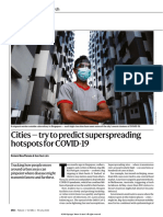 Cities — try to predict superspreading