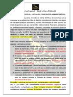 DIREITO ADMINISTRATIVO - Licitações e Contratos Administrativos