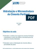 ADF_LS Aula 3 Hidratação do Cimento Portland e microestrutura 2019