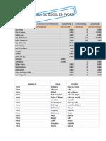 Tabla de Excel en Word
