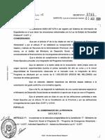 Decreto Provincial N° 765/2020