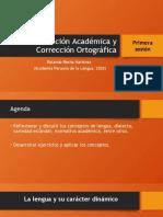Redacción Académica y Corrección ortográfica