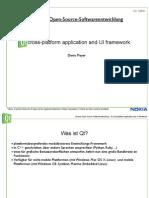 Qt cross-platform application and UI framework