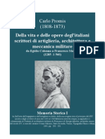 PROMIS Carlo. Forty-seven Italian Writers on Artillery and Fortification since1285 up to 1560. Turin 1841