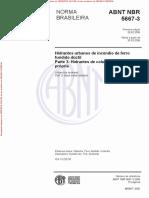NBR5667-3 - HIDRANTES DE COLUNA COM OBTURAÇÃO PRÓPRIA