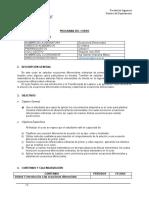 Programa Ecuaciones Diferenciales Segundo ciclo