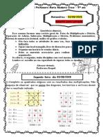 Matemática 03-08 gabarito