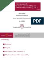 Lizenzvergleich GPL und LGPL