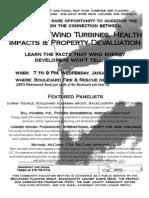 Wind turbine impact meeting flyer 1-19-11
