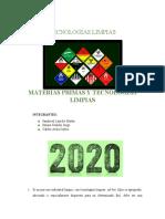 MATERIAS PRIMAS Y TECNOLOGIAS LIMPIAS