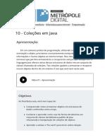 10 Colecoes Em Java Programacao Orientada a Objetos Imd