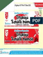 Free Download Desain Spanduk Dirgahayu HUT RI Ke-75 Tahun 2020 Format Vector CDR & PDF