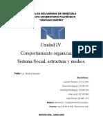 Unidadad IV, Cuestionario,  Comportamiento organizacional.