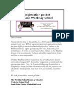 Registration Packet 2011-2012