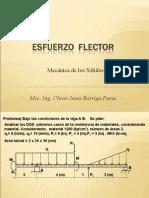 EJERCICIOS DE MOMENTO Y ESFUERZO FLECTOR