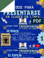 juegos para iniciar clases remotas