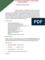 Computer Game Development and Education an International Journal CGDEIJ