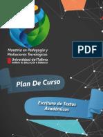 Plan de curso - Escritura de Textos Académicos