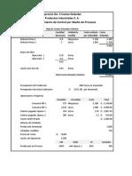 Ejercicio No.05 costos estandar