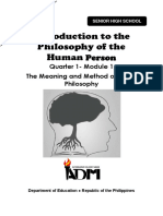 Copy of Philo_Mod1-Q1 Introduction to the Philosophy of the Human Person v3