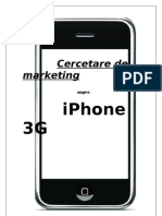 Cercetare de Marketing asupra Iphone 3G