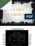 CLIMA ORGANIZACIONAL PRESENTACION