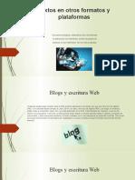 Textos en otros formatos y plataformas