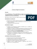 Almacén y Registro de inventarios, Parte 1, borrador