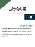 Basic Python- Python Data Analysis