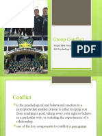 Group Conflict and Conflict Resolution