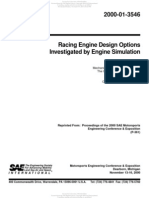 200-01-3546 Racing Engine Design Options Investigated by Engine Simulation