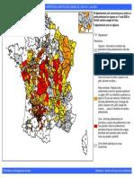 Carte des arrêtés de limitation des usages de l'eau, du 11 août 2020.