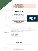 ENGLISH 7 Q1W1-MODULE