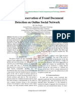 Privacy Preservation of Fraud Document