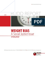 WEIGHT BIAS A Social Justice Issue A Policy Brief