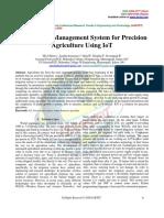 Smart Farm Management System for Precision