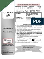 Test Schedule.docx first page Sidana Sir