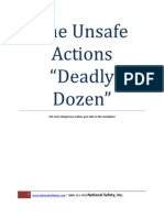 The Deadly Dozen of Unsafe Actions