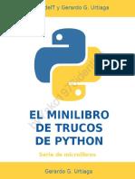 El minilibro de trucos de python_ Todos los ejemplos de código para mejorar tus scripts.pdf