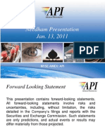 API Needham Presentation 2011 Final