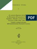 «In camera deputata rationibus» Le Breviature di Lanzarotto Negroni familiare, officiale e notaio di Giovanni Visconti (1345-1346, 1348, 1352) - Alberto Cadili - 2020 - 474p