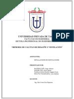 MEMORIA DE CALCULO DE INST DESAGUE Y VENTILACION masomenos revizado