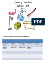 campaña Higiene y Limpieza Vespertino tec.89